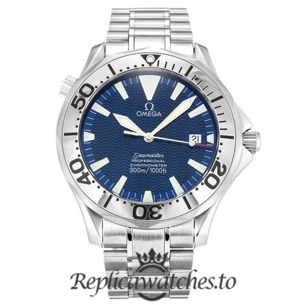 Omega Seamaster Replica 2255.80.00 Blue Dial 41MM