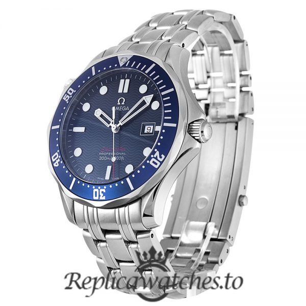 Omega Seamaster 300M Replica 2221.80.00 Blue Bezel 41MM