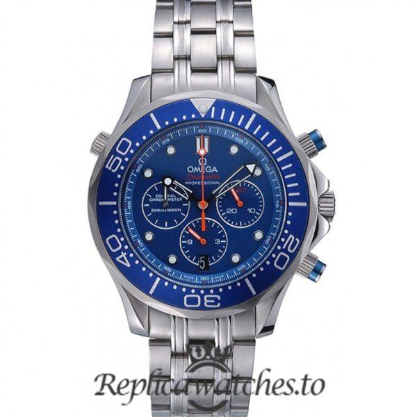 Omega Seamaster Replica 622055 Blue Dial 47MM