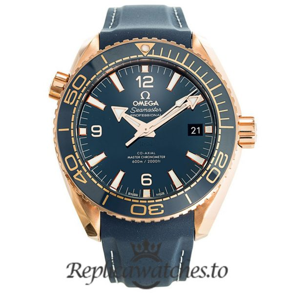 Omega Seamaster Replica 215.63.44.21.03.001 Blue Strap 43.5MM