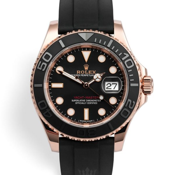 Rolex Yacht Master Replica 116655 Black Strap 40MM