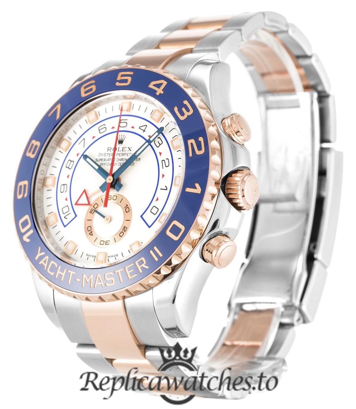 Rolex Yacht Master Replica 116681 Blue Bezel 44MM