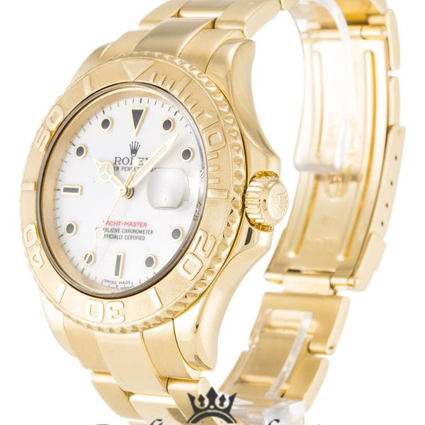 Rolex Yacht Master Replica 16628 001 Yellow Gold Bezel 40MM