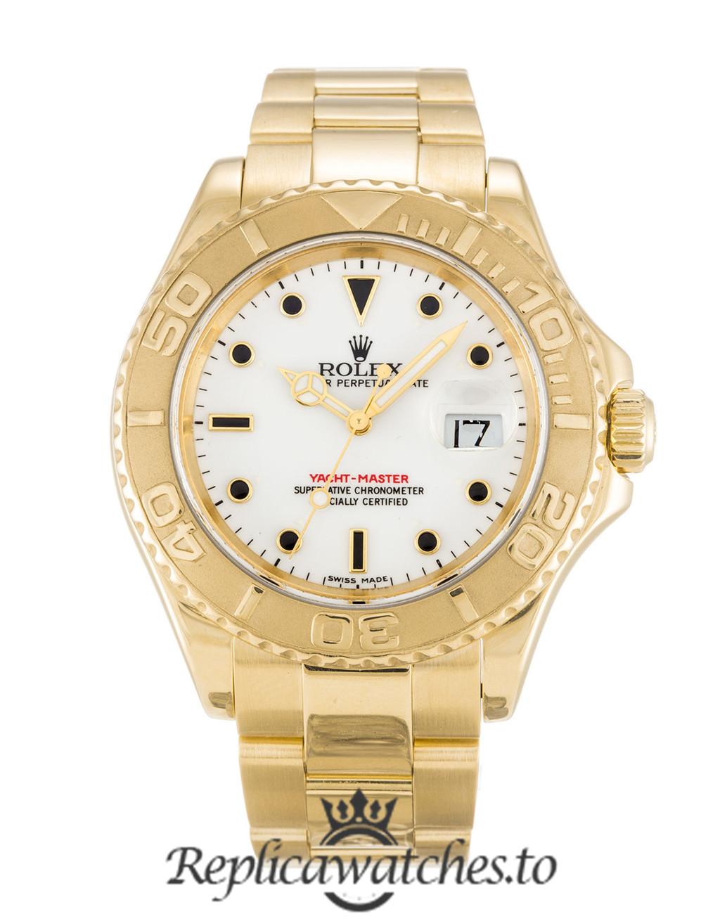 Rolex Yacht Master Replica 16628 001 Yellow Gold Bezel 40MM