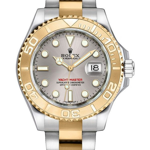 Rolex Yacht Master Replica 168623 001 Yellow Gold Bezel 35MM