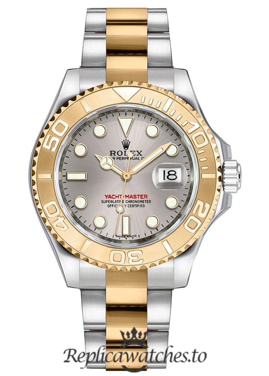 Rolex Yacht Master Replica 168623 001 Yellow Gold Bezel 35MM