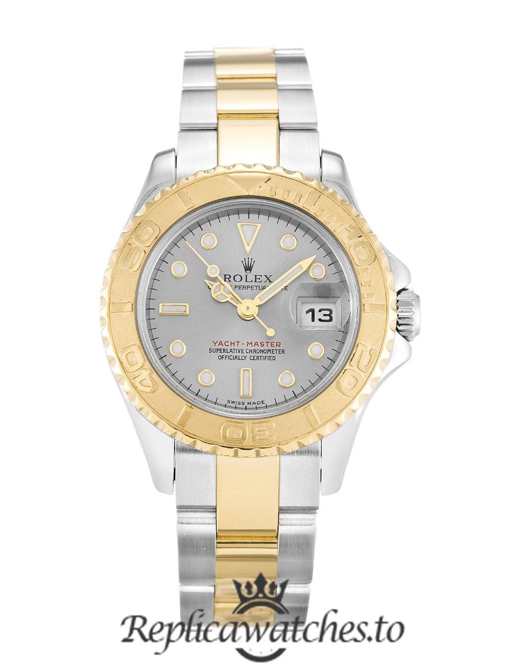Rolex Yacht Master Replica 169623 002 Yellow Gold Bezel 29MM