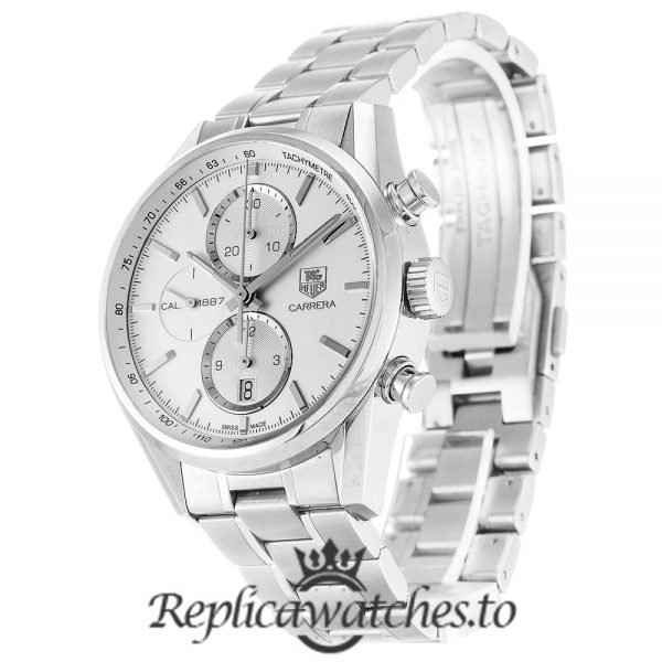 Tag Heuer Carrera Replica CAR2111.BA0720 Silver Strap 41MM