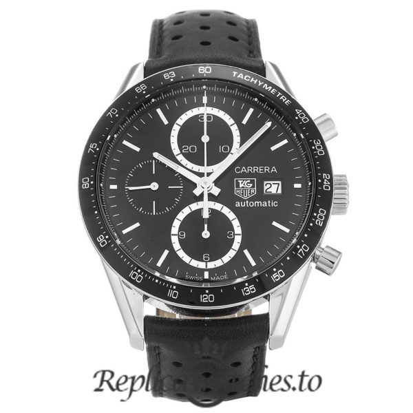 Tag Heuer Carrera Replica CV2010.FC6233 Black Bezel 41MM