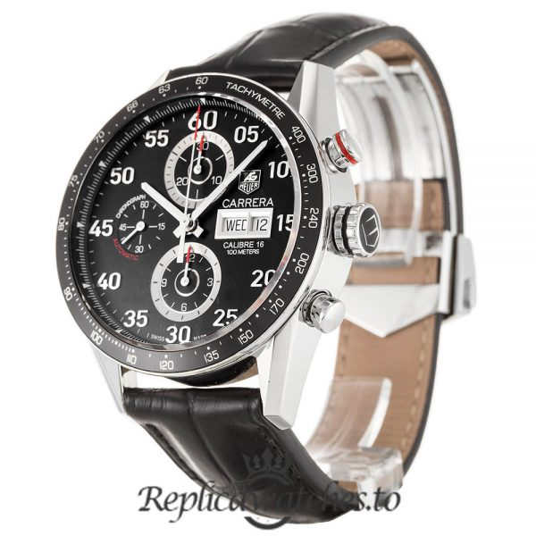Tag Heuer Carrera Replica CV2A10.FC6235 Black Strap 43MM