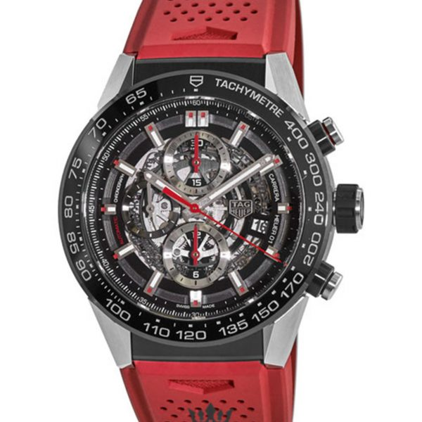 Tag Heuer Carrera Replica car2a1z.ft6050 Red Strap 45MM