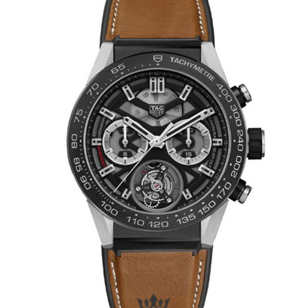 Tag Heuer Carrera Replica car5a8y.ft6072 Brown Strap 45MM