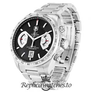 Tag Heuer Grand Carrera Replica CAV511A.BA0902 Black Dial 43MM