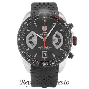 Tag Heuer Grand Carrera Replica CAV511C.FT6016 Black Dial 43MM