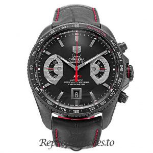 Tag Heuer Grand Carrera Replica CAV518B.FC6237 Black Dial 43MM