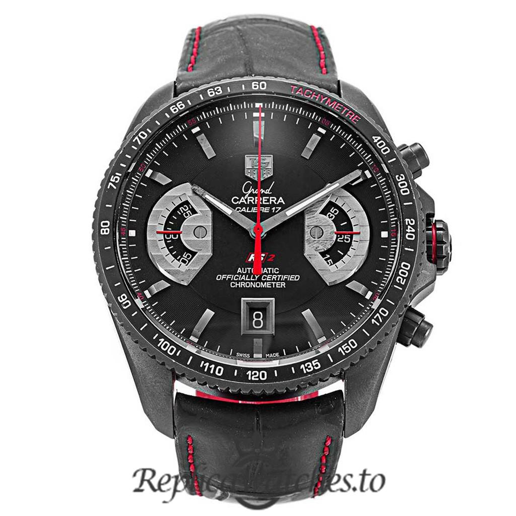 Tag Heuer Grand Carrera Replica CAV518B.FC6237 Black Dial 43MM