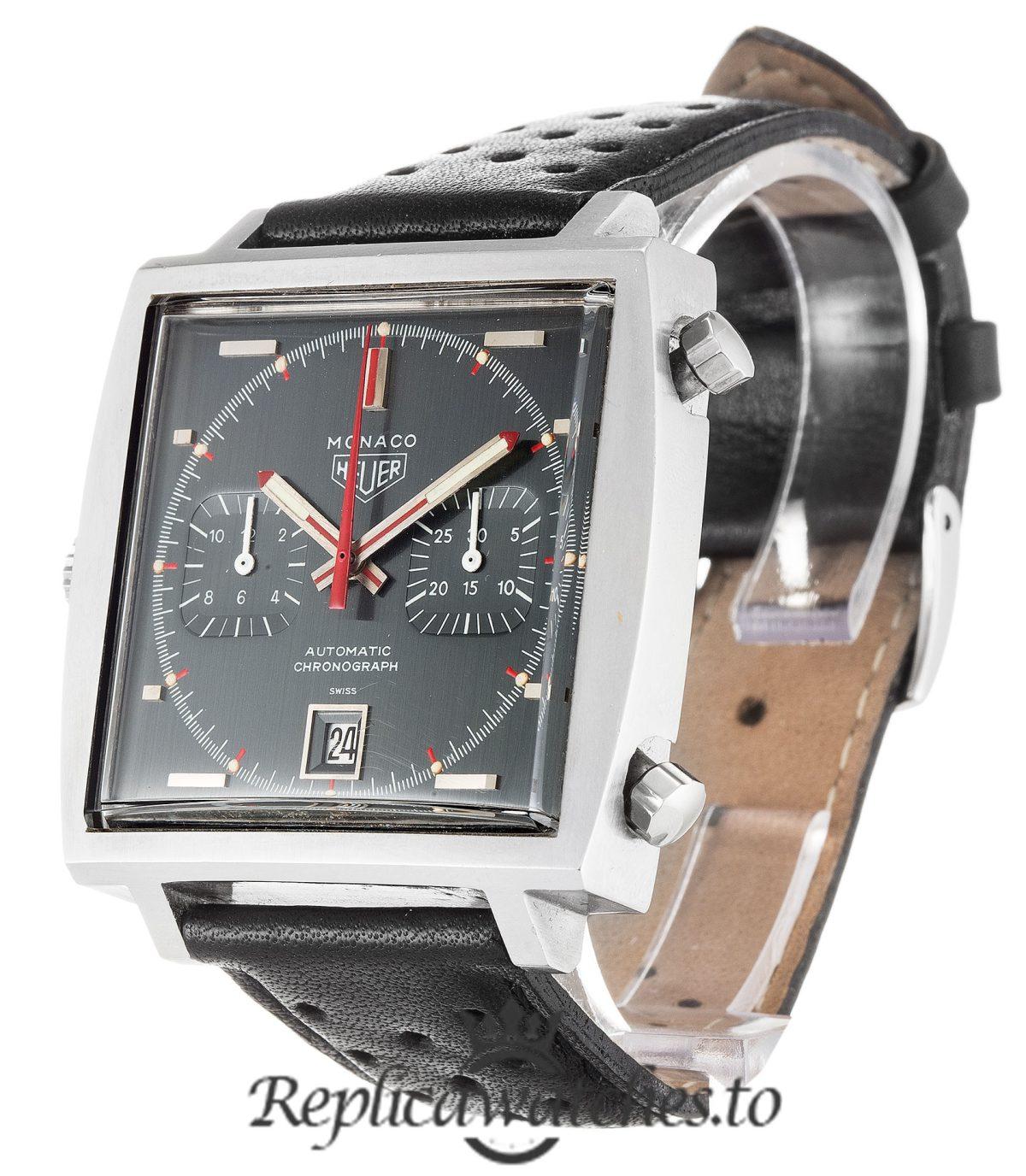 Tag Heuer Monaco Replica 1133G Black Dial 37MM