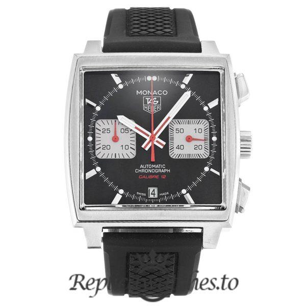Tag Heuer Monaco Replica CAW2114.FT6021 Black Dial 39MM