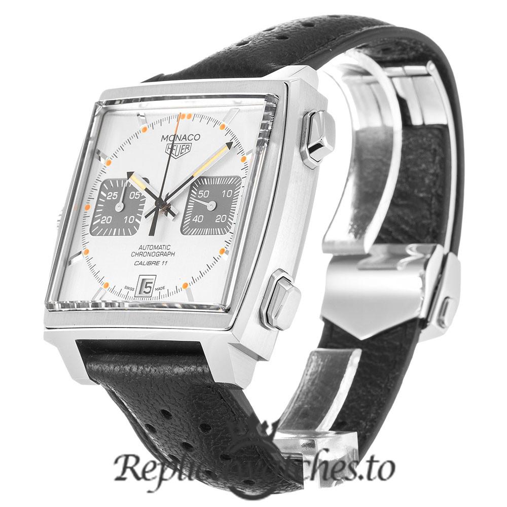 Tag Heuer Monaco Replica CAW211C.FC6241 Silver Dial 39MM