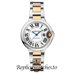 Cartier Ballon Bleu Replica W2BB0002 Grey Dial 33MM