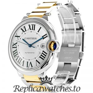 Cartier Ballon Bleu Replica W69009Z3 Grey Dial 42MM