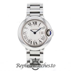 Cartier Ballon Bleu Replica W69010Z4 Grey Dial 29MM