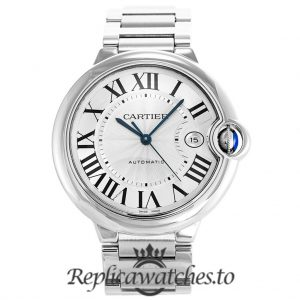 Cartier Ballon Bleu Replica W69012Z4 Grey Dial 42MM