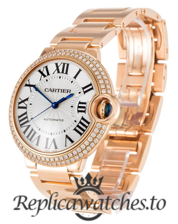 Cartier Ballon Bleu Replica WE9005Z3 Silver Dial 36.5MM