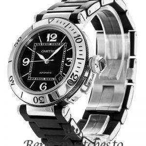 Cartier Pasha Replica W31077U2 Black Dial 41MM