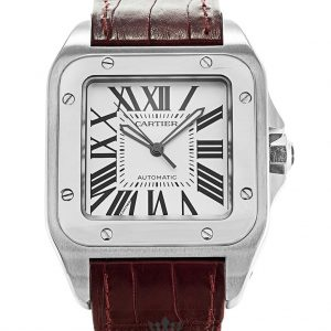 Cartier Santos Replica W20073X8 White Dial 38MM