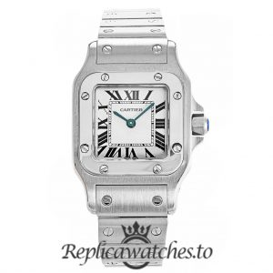 Cartier Santos Replica W20056D6 White Dial 24MM