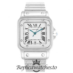Cartier Santos Replica W20060D6 White Dial 29MM