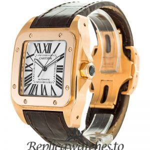 Cartier Santos Replica W20095Y1 White Dial 38MM