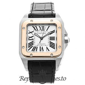 Cartier Santos Replica W20107X7 White Dial 33MM