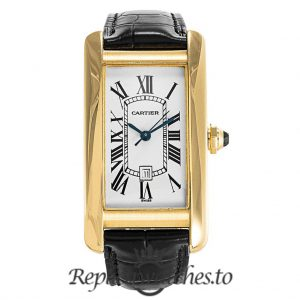 Cartier Tank Americaine Replica W2603556 White Dial 23MM