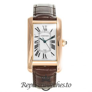 Cartier Tank Americaine Replica W2609156 White Dial 23MM
