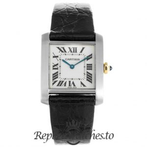 Cartier Tank Francaise Replica W51006Q4 White Dial 25MM