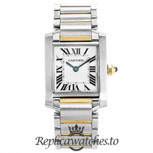 Cartier Tank Francaise Replica W51007Q4 White Dial 20MM