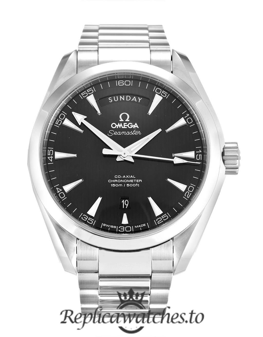 Omega Aqua Terra Replica 231.10.42.22.01.001 Black Dial 41.5MM