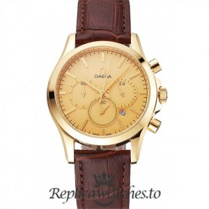 Omega Chronograph Replica Gold Dial 39MM