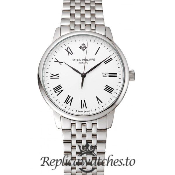 Patek Philippe Calatrava Replica 1453833 White Dial 40MM