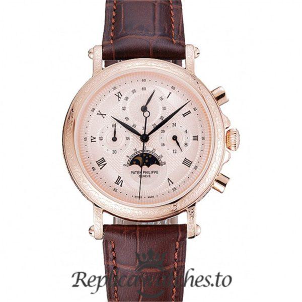 Patek Philippe Grand Complications Replica 1454142 Rose Gold Dial 41MM