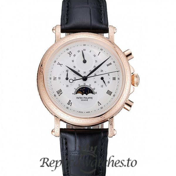 Patek Philippe Grand Complications Replica 1454144 Black Strap 41MM