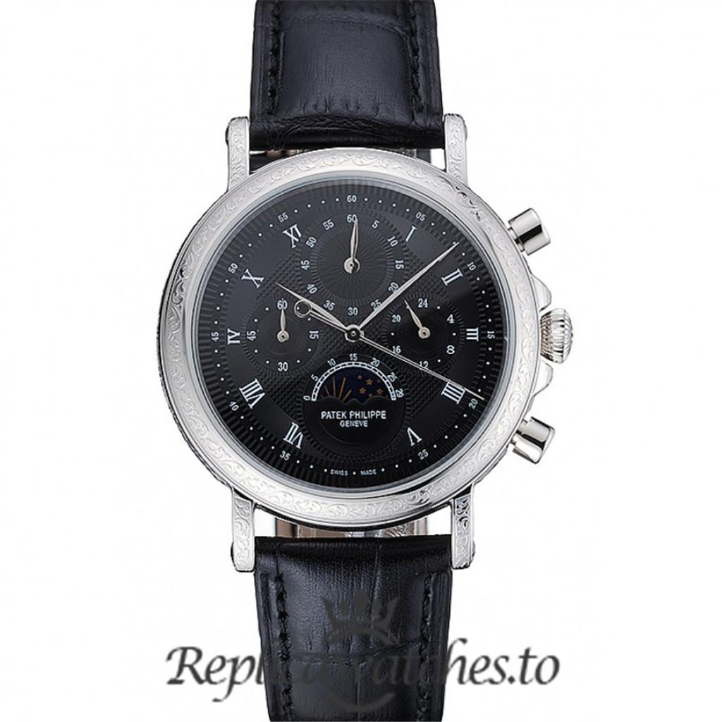 Patek Philippe Grand Complications Replica 1454145 Black Dial 41MM