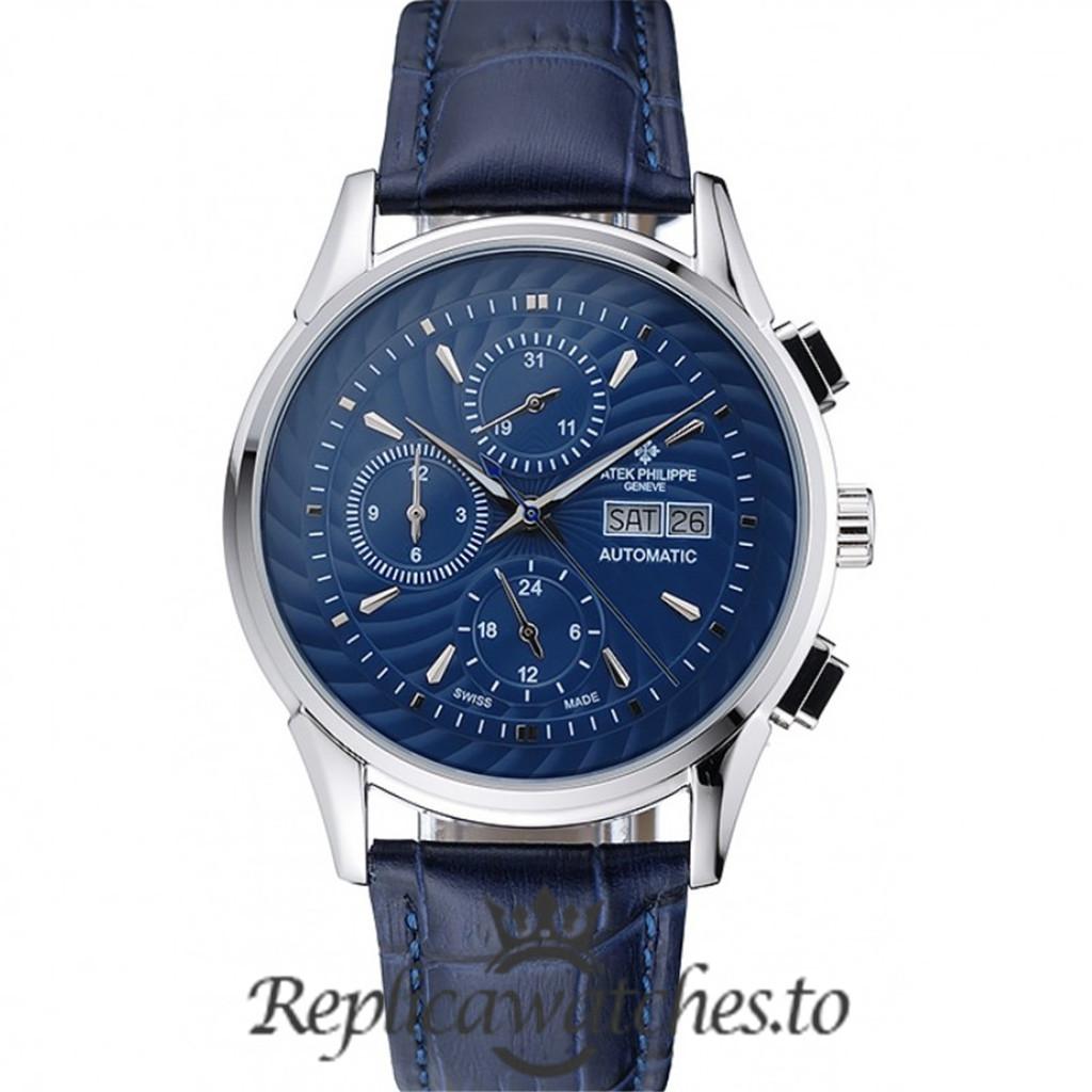 Patek Philippe Grand Complications Replica 1454241 Blue Dial 41MM