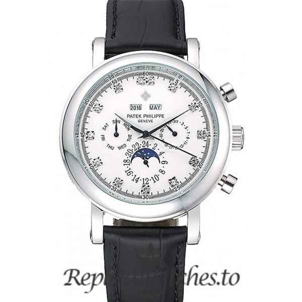 Patek Philippe Grand Complications Replica Black Strap 42MM