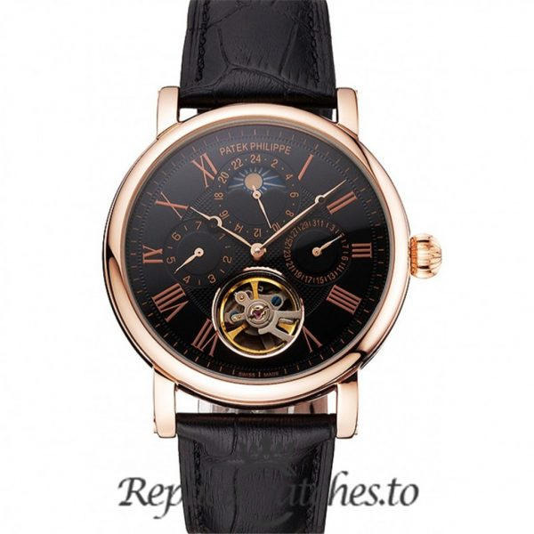 Patek Philippe Grand Complications Replica Rose Gold Bezel 42MM