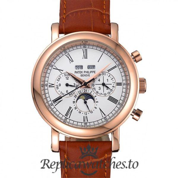 Patek Philippe Grand Complications Replica Brown Strap 41MM
