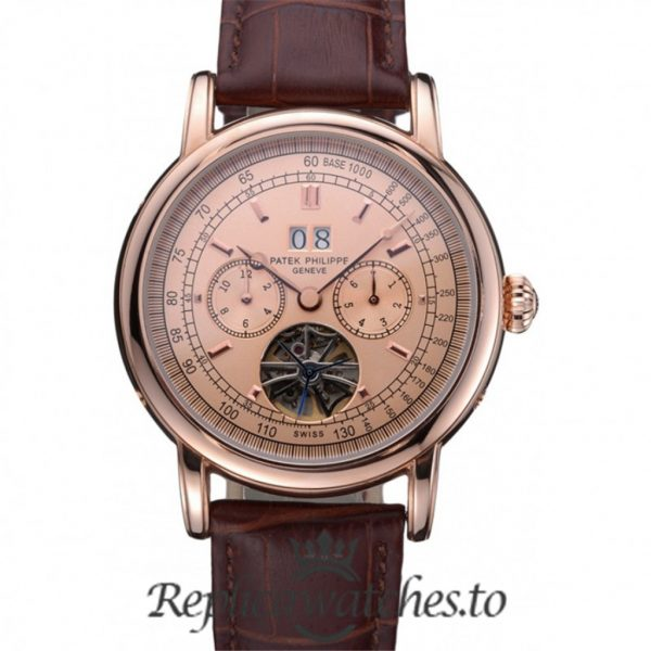 Patek Philippe Grand Complications Replica 622158 Rose Gold Dial 43MM