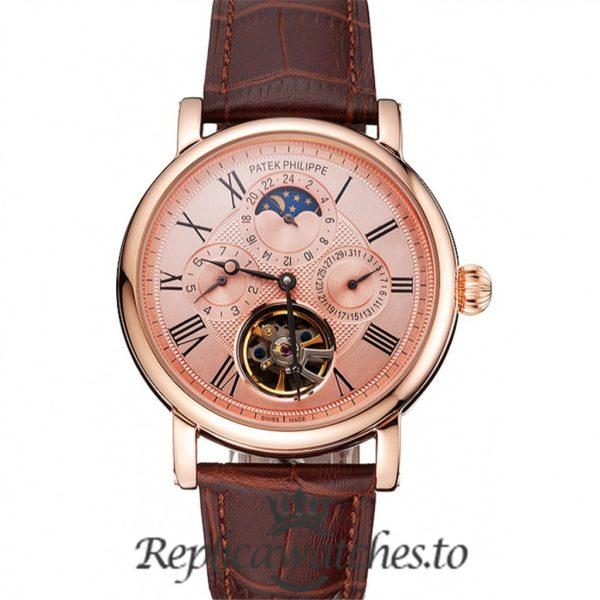 Patek Philippe Grand Complications Replica Rose Gold Dial 42MM
